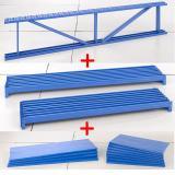 """Flat Storage Shelf Restaurant Food Storage Wire Rack Shelving Unit (42"""" W X 14"""" D)"""